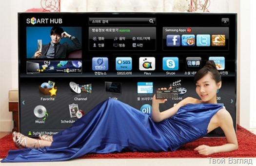 Самый большой 3D-телевизор Samsung D9500