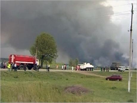 Взрывы на складе боеприпасов в Башкирии