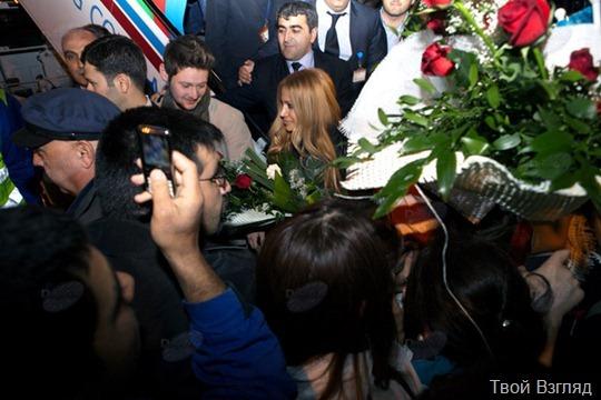 Герои Евровидения 2011 на приеме у президента Азербайджана