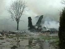 Истребитель F-18 упал на жилые дома