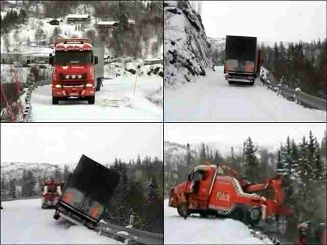 Спасение водителей в Норвегии