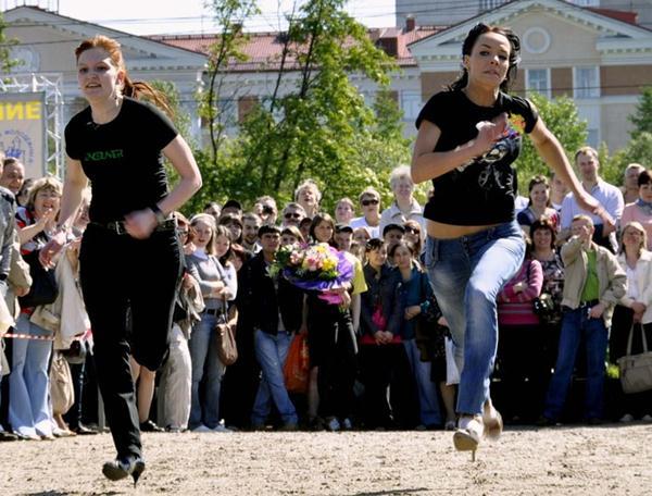 Бег на шпильках в Мурманске