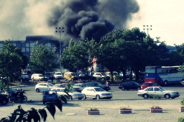 Взрыв в аэропорту Болгарии