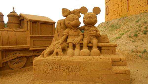 Песчаные герои мультфильмов