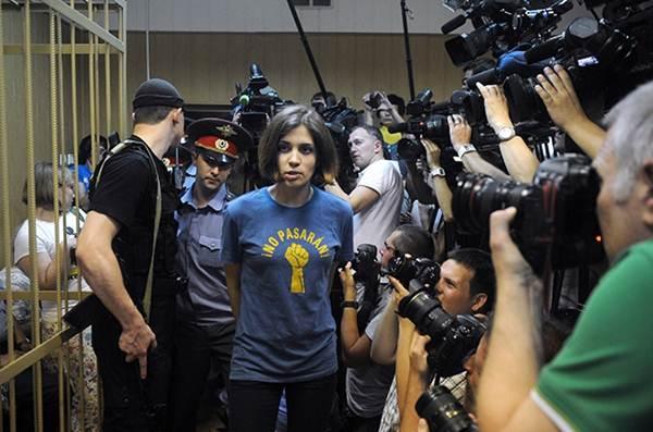 Надежда Толоконникова в Таганском суде