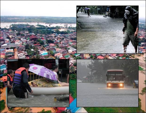 Наводнение в Маниле. Фотографии